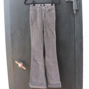Paige Grey Corduroy Flare Pants